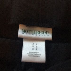 Motherhood Maternity Intimates & Sleepwear - Black maternity lounge shorts